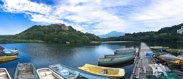 ひょうたん池からの恵那山