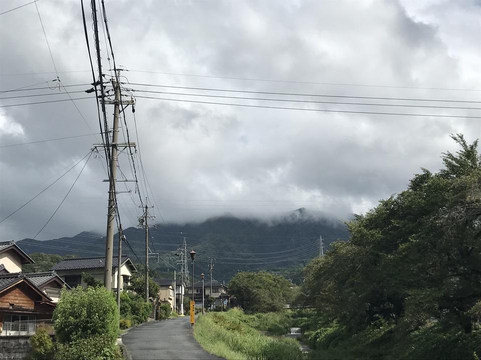 台風通過後の恵那山 border=