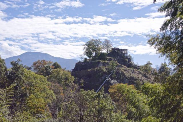 苗木城跡と恵那山