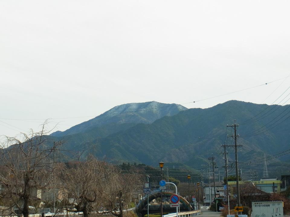 恵那山に2回目の雪 border=