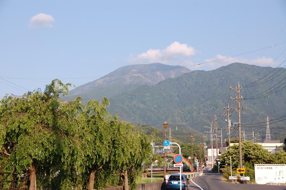 夕方になって恵那山見えました! border=
