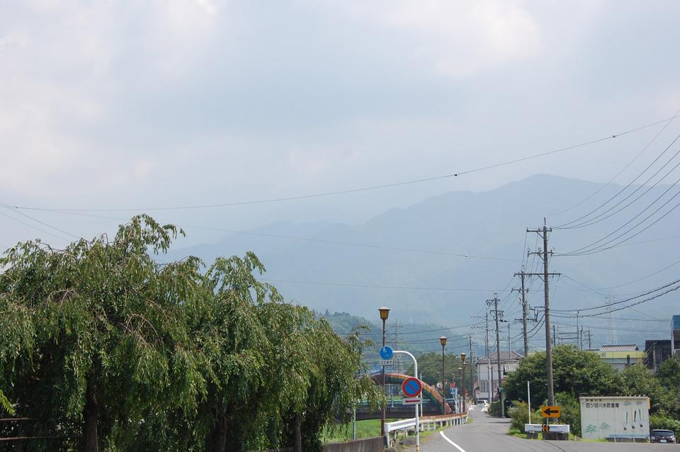 8月初日の恵那山は雲の中