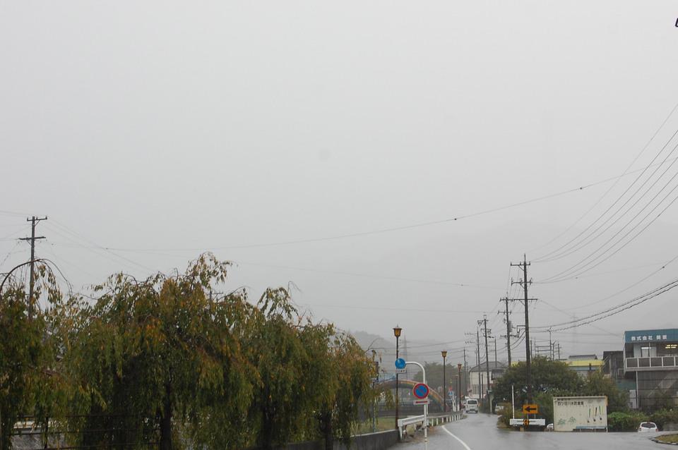 天気予報通りの雨
