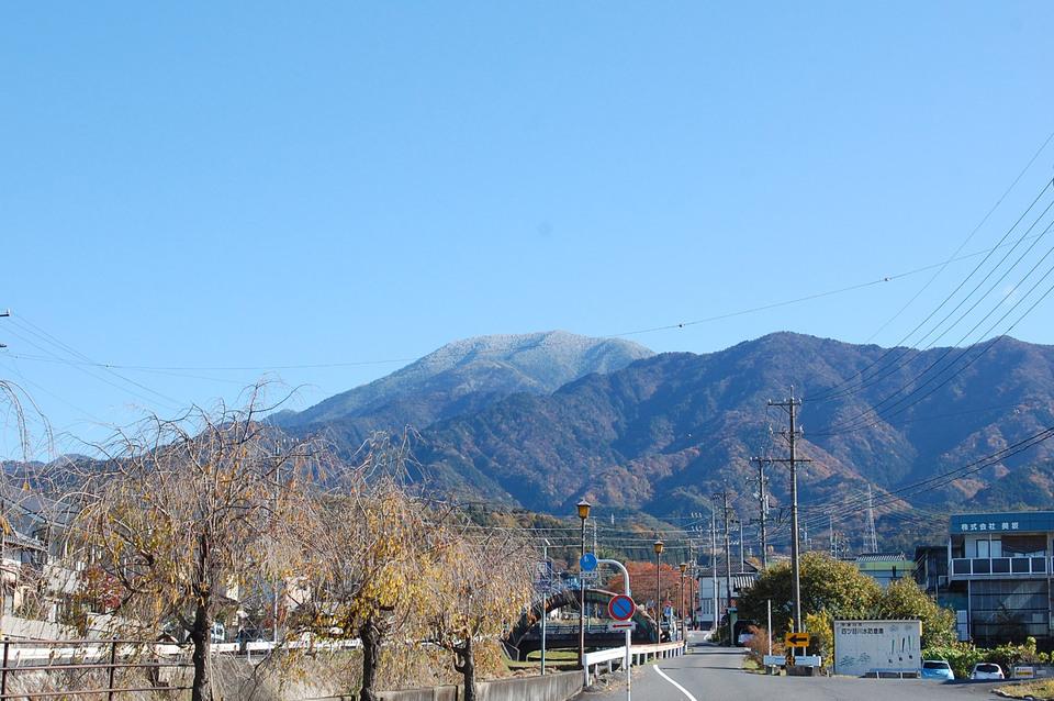 恵那山、白くなってます!