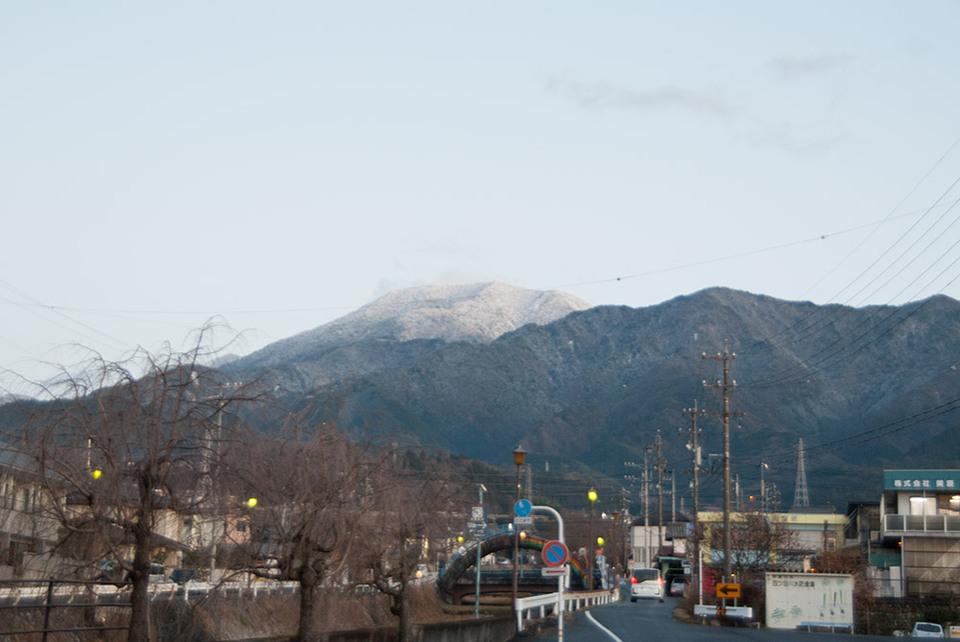 夕暮れの恵那山