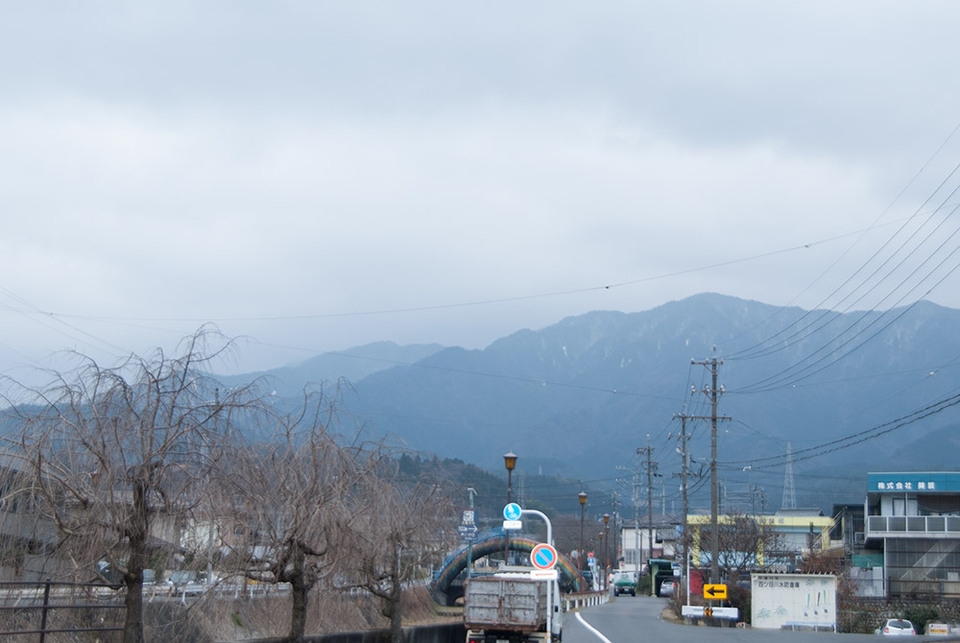 大寒の恵那山