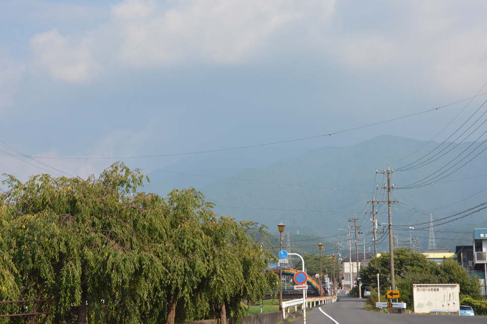 恵那山が見えない! border=
