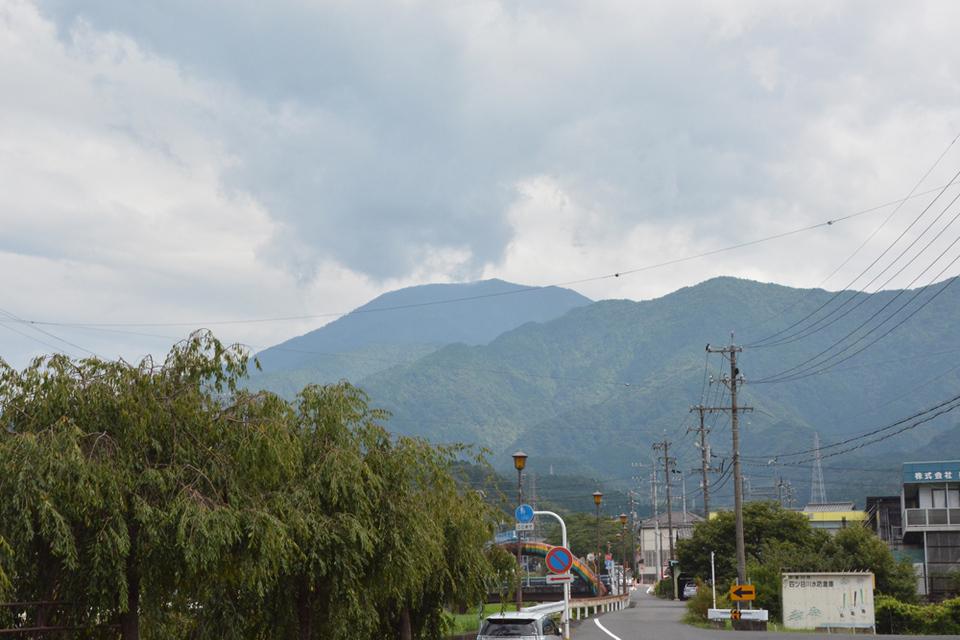 久々に恵那山が見えました! border=