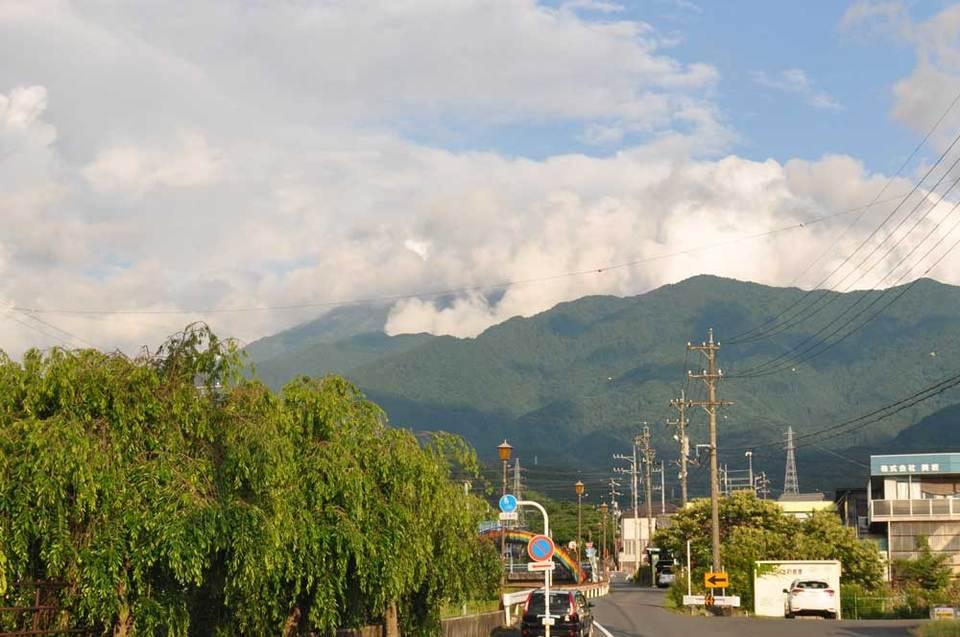 夕方の恵那山