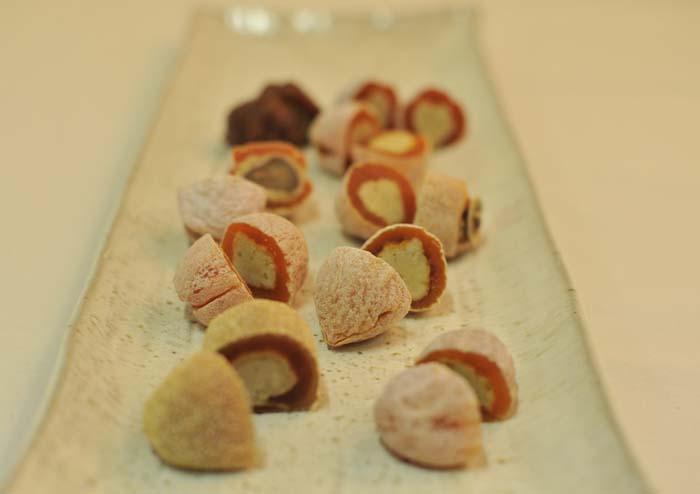 【にぎわい特産館】春のおすすめ栗きんとん 「干し柿と栗きんとん」のお菓子 border=