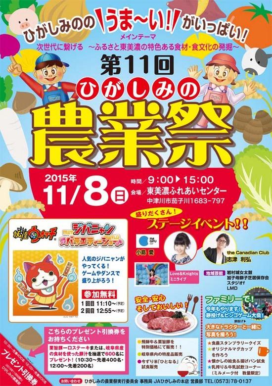 【第11回ひがしみの農業祭】ひがしみののうま~い!ものがいっぱい!