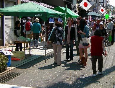 【4月の六斎市】4月3日は六斎市。桜咲く中津川をどうぞお楽しみください。 border=