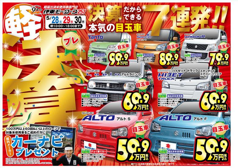 伊東モータース257 〜プレ決算!!〜