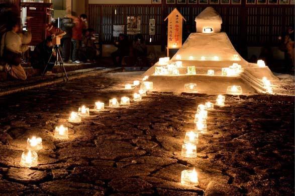 【馬籠宿】1年でたった2時間だけのイベント 馬籠 氷雪の灯祭り 2月11日(土 祝)に開催します。 border=