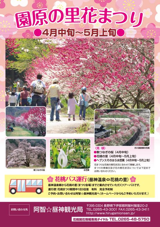 【園原の里花まつり】約5000本のハナモモが咲き乱れる桃源郷へ。夜はライトアップも。 border=