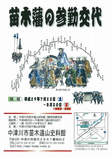 【苗木遠山史料館】苗木藩の参勤交代