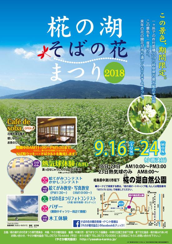 【椛の湖そばの花まつり】この景色 期間限定。9月16日から24日まで開催。 border=