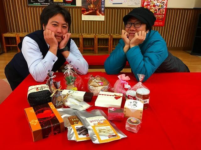2月9日のてくてく中津川は・・・?ただいまにぎわい特産館では、バレンタインフェアを開催中です。