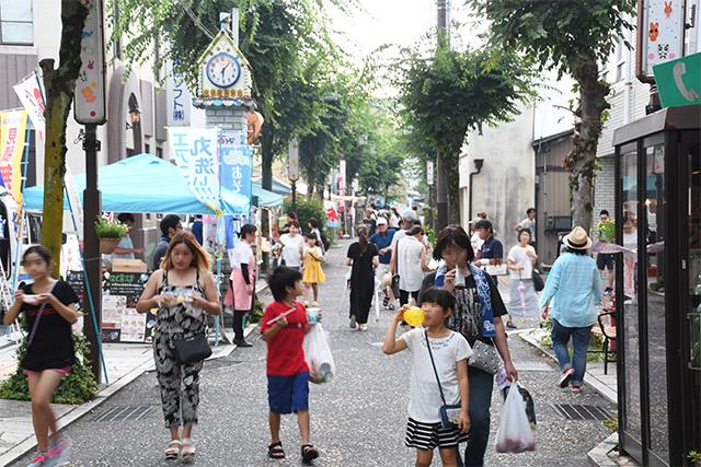 8月29日のてくてく中津川は...六斎市!