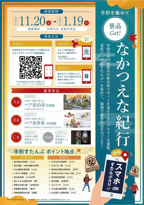 12月3日のてくてく岐阜歩き 中津川は...なかつえな紀行スタンプラリー !